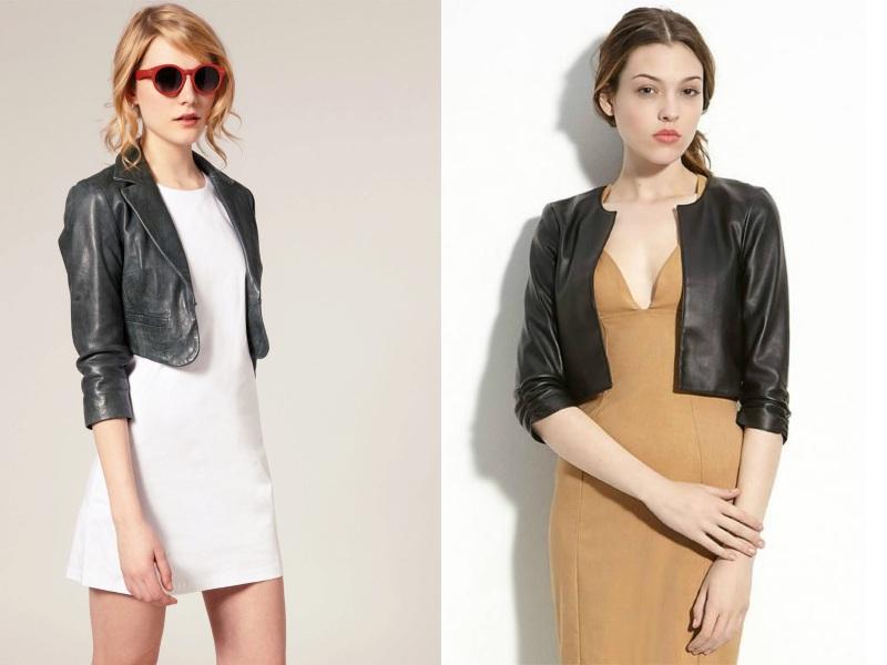 Короткие кожаные куртки