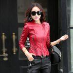 Фото 62: Красная кожаная куртка