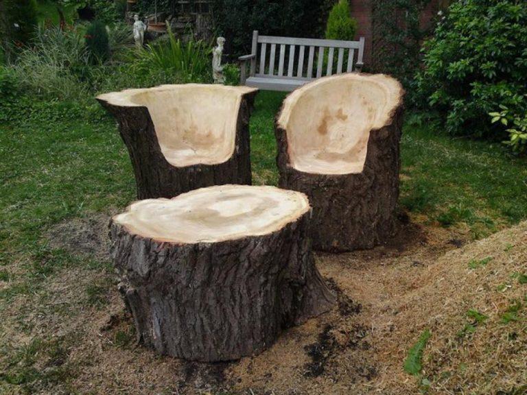 Мебель из пней и коряг своими руками