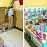 Фото 29: Кухонный уголок из картонных коробок для детей