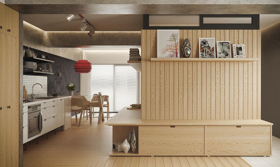 Эргономичность - важная составляющая в процессе обустройства квартиры-студии