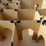 Фото 30: Детский лабиринт из картона