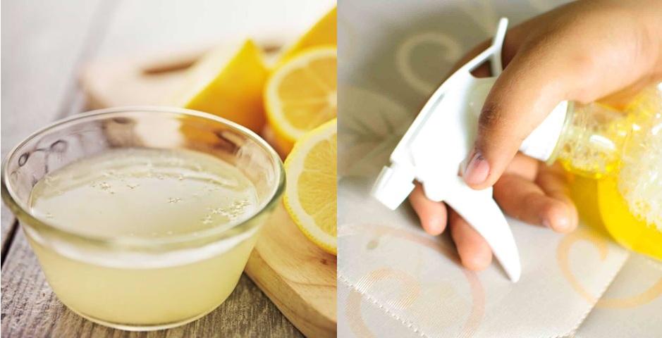 Удаление пятна раствором лимонного сока