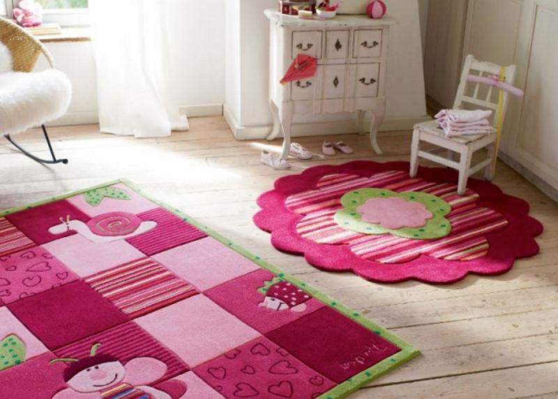 Зонирование детской комнаты с помощью ковриков