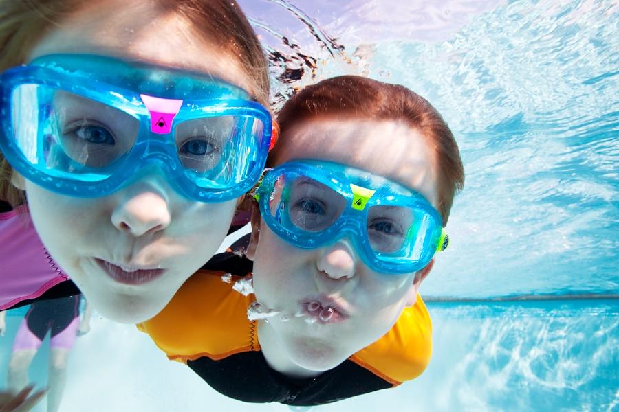 Очки-полумаска для плавания