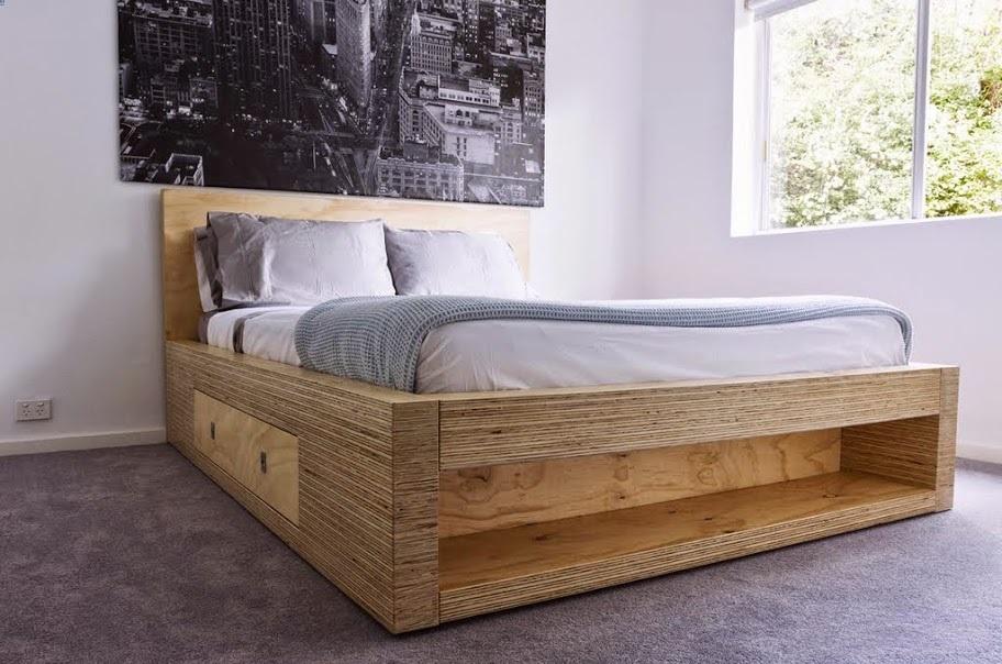 Кровать из фанеры