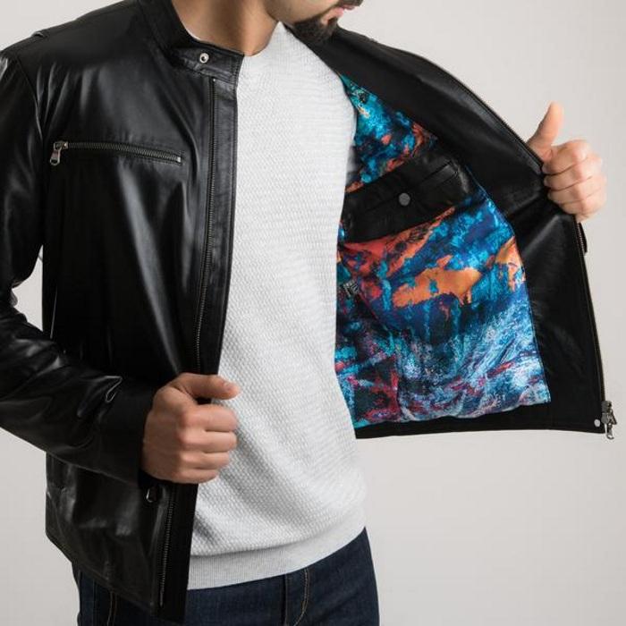 Подклад кожаной куртки