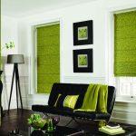 Фото 10: Римские шторы в гостиной на каркасе