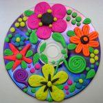 Фото 42: Аппликация из пластилина на диске