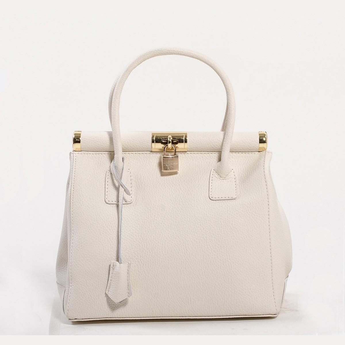 Белая кожаная сумка