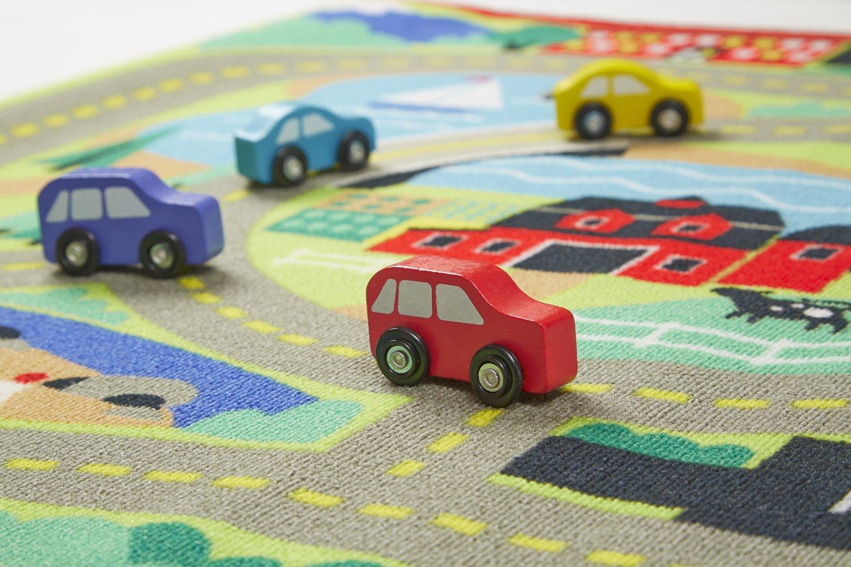 Детский ковер для развития и игр с дорогами