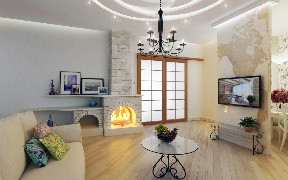 Дизайн квартиры студии в средиземноморском стиле