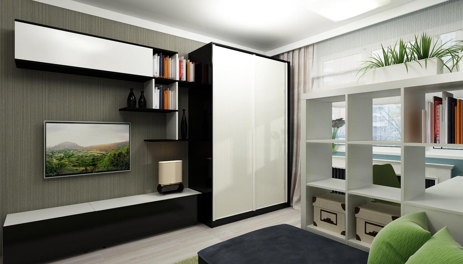 Двери-купе в квартире студии