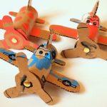 Фото 28: Самолетики из картона на День Защитника Отечества