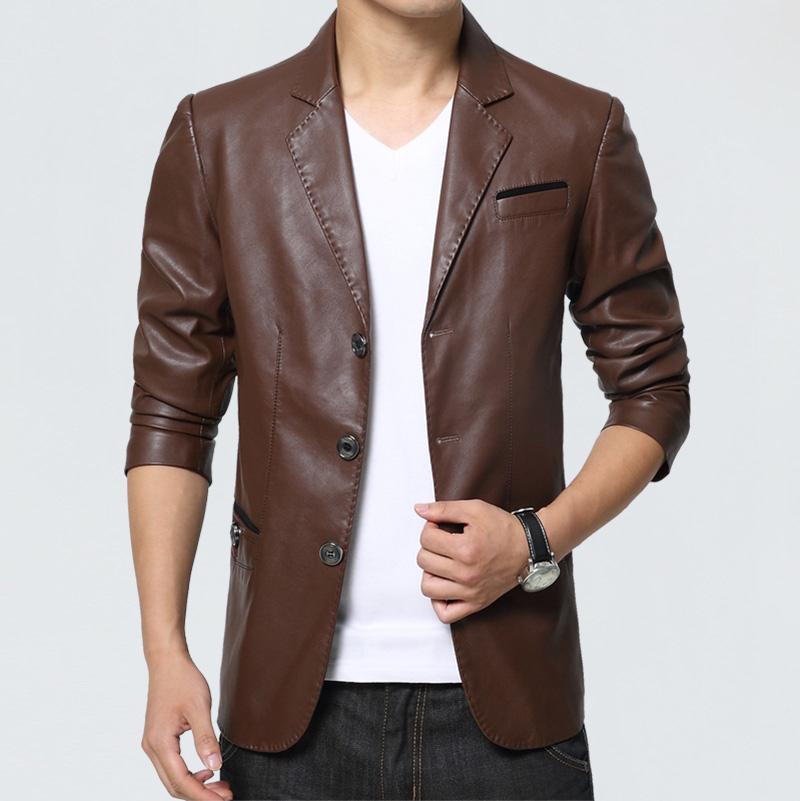 Стильная куртка из кожаного пиджака