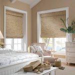 Фото 25: Бамбуковые шторы в спальне