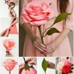 Фото 80: Большие розы из бумаги