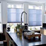Фото 44: Бумажные шторы плиссе на кухне