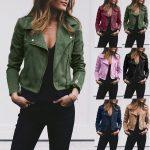 Фото 23: Цветные кожаные куртки