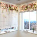 Фото 15: Цветочные римские шторы