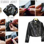Фото 28: Декор кожаной куртки кнопками