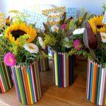Фото 60: Декор ваз цветными карандашами