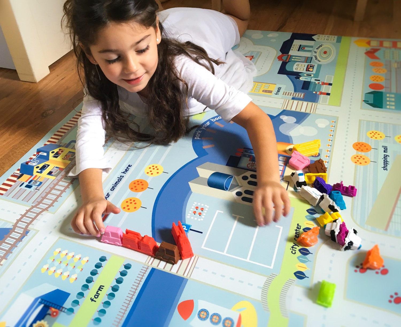Детский ковер с дорогами для девочки