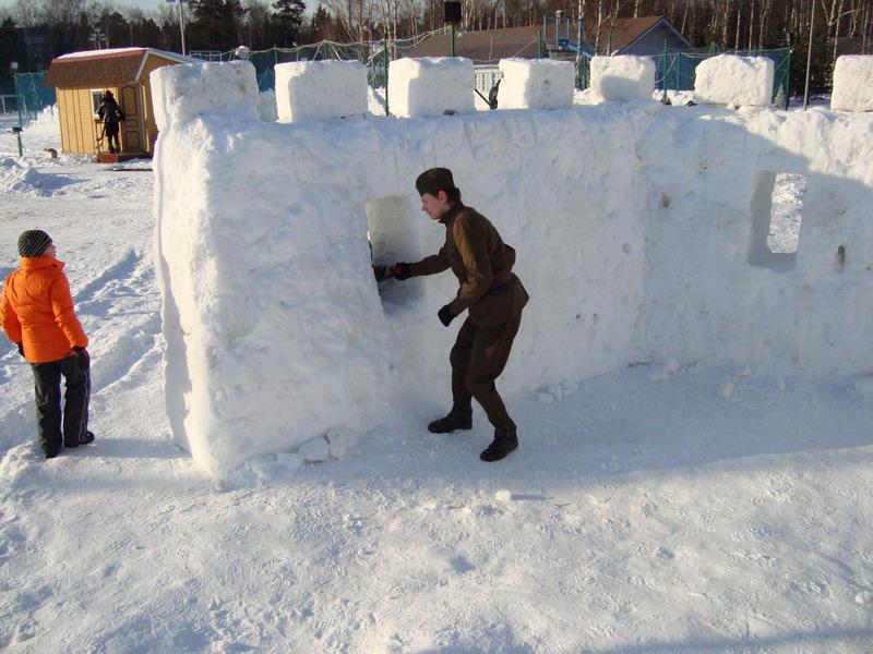 Военная крепость на День Защитника Отечества