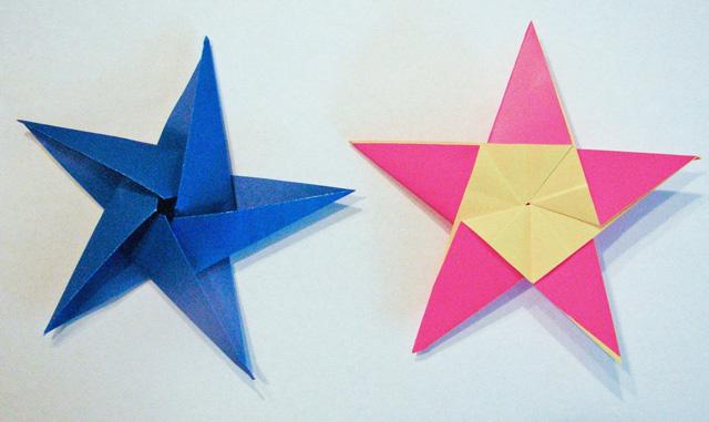 Пятиконечная звезда оригами своими руками к 23 февраля