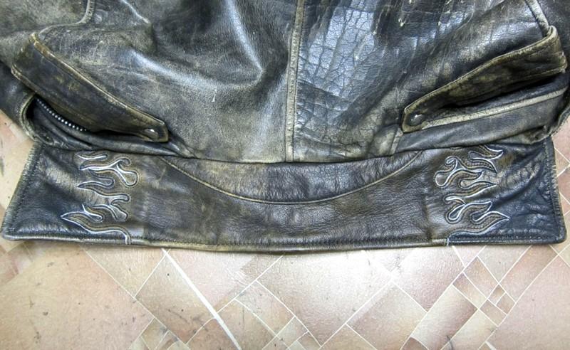 Фигурная заплатка на воротник куртки