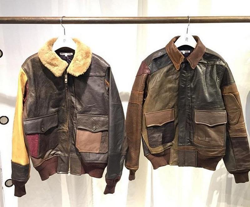 Кожаная куртка из лоскутков кожи
