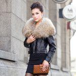Фото 34: Кожаная куртка с мехом