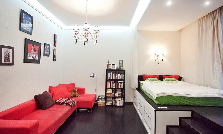 Дизайн квартиры-студии требует индивидуального подхода