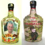 Фото 27: Украшение бутылки на 23 февраля