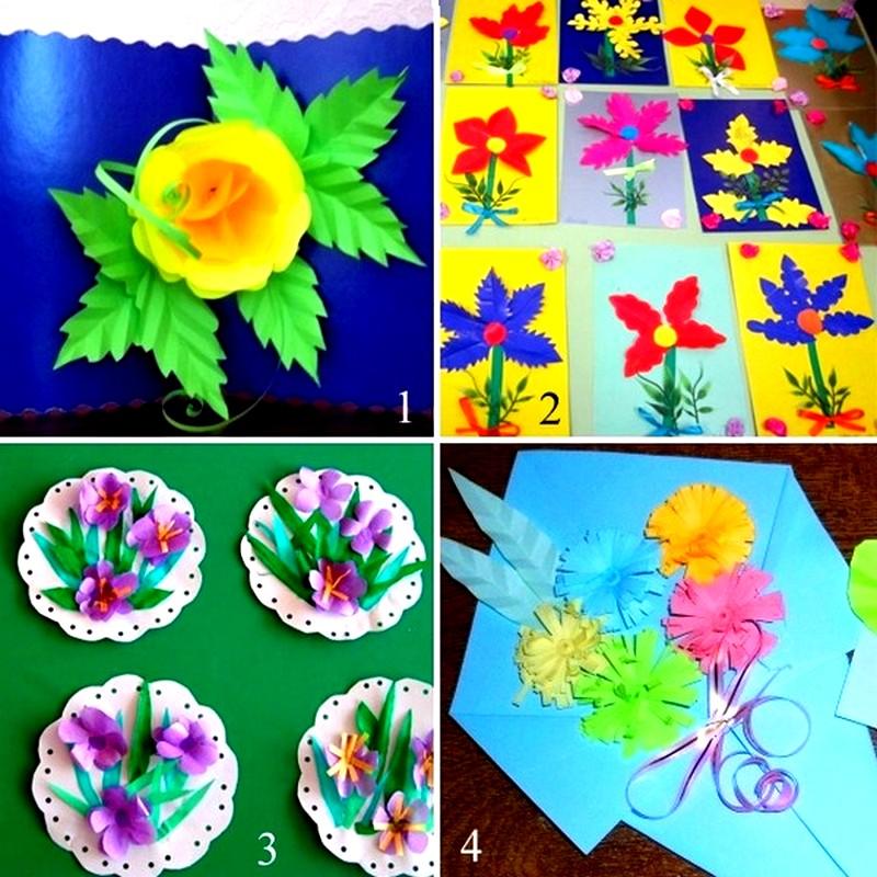 Поделки из бумаги своими руками на день рождения маме цветы - Schol52rgd.ru
