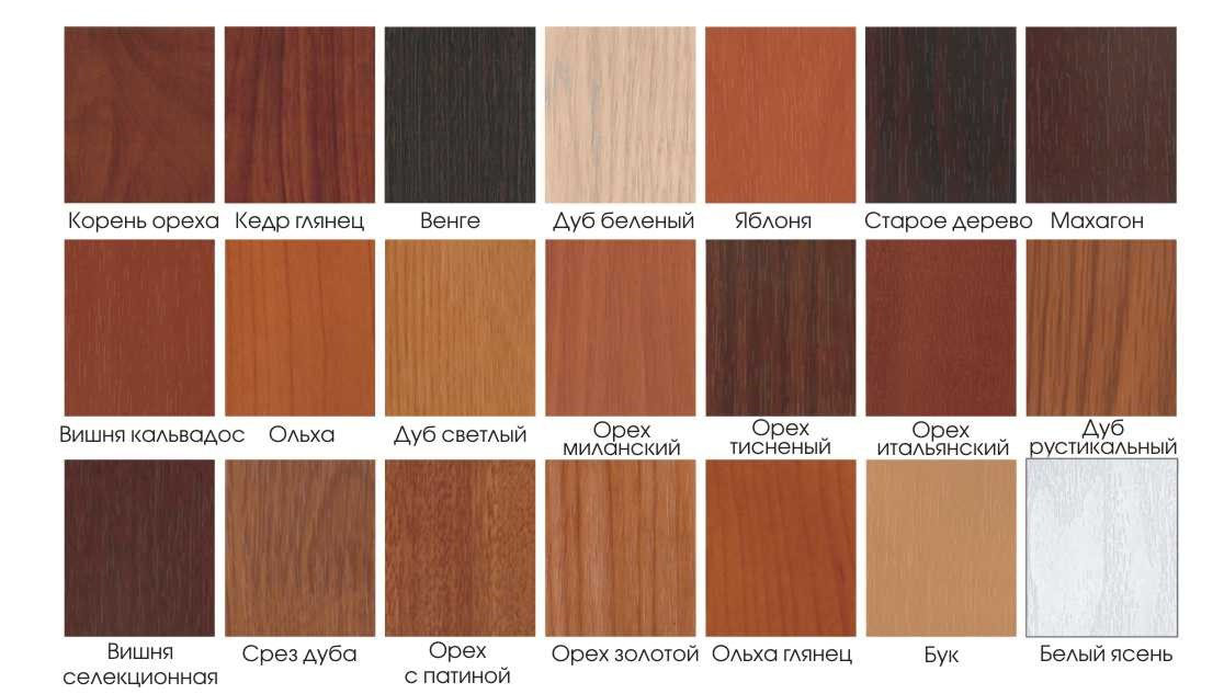 Разнообразные оттенки древесины