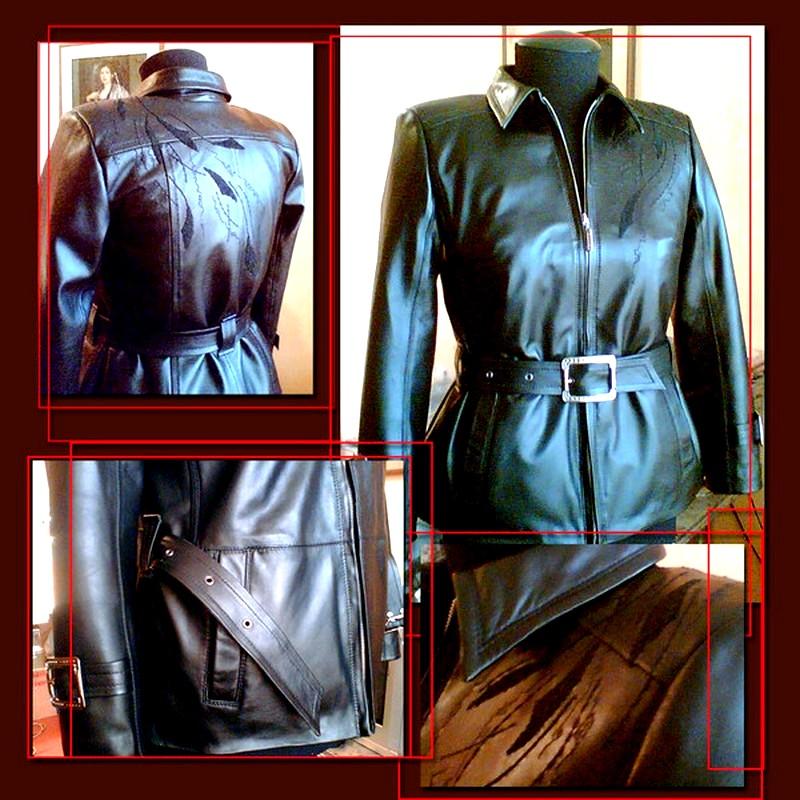 Обновить кожаную куртку своими руками