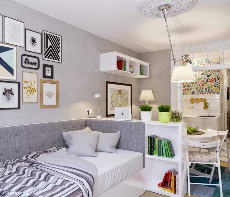 Используйте мебель, чтобы разделить пространство