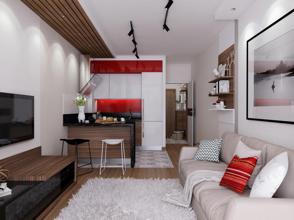 Фото дизайна квартир студий 30 кв