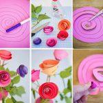 Фото 79: Спиральные розы из бумаги