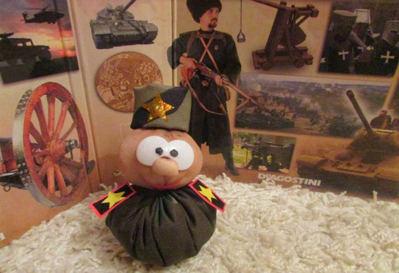 """Мягкая игрушка """"солдат"""" на 23 февраля"""