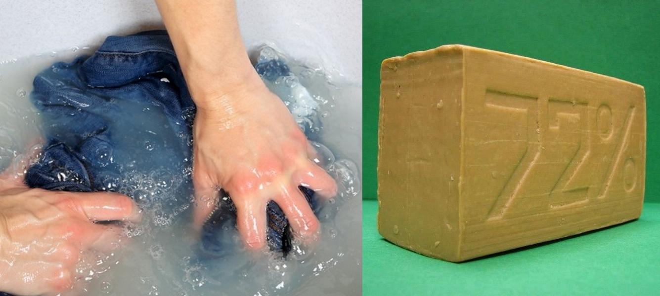Стирка джинсов при помощи хозяйственного мыла