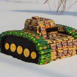 Фото 31: Танк из конфет своимируками
