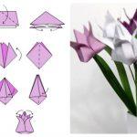 Фото 23: Тюльпаны в технике оригами