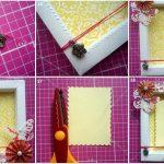 Фото 52: Украшение рамки бумажными цветами