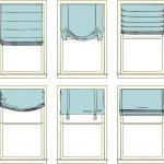 Фото 2: Виды римских штор для спальни