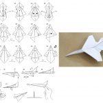 Фото 36: Военный самолетик в технике оригами