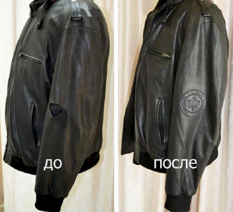 Заплатка на лицевой стороне куртки