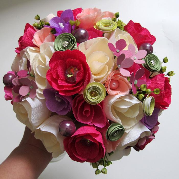 Букеты бумажных цветов