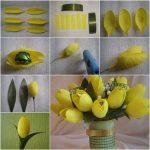 Фото 58: Букет тюльпанов из конфет
